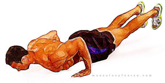 Tipos de Flexiones. Plancha Elevando el Cuerpo